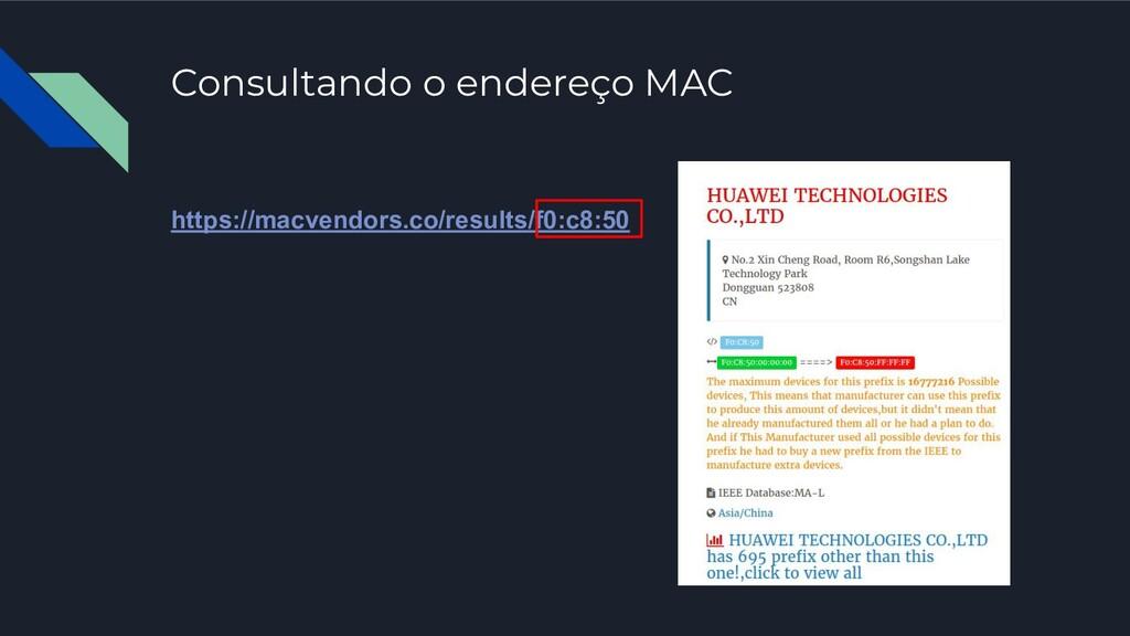 Consultando o endereço MAC https://macvendors.c...