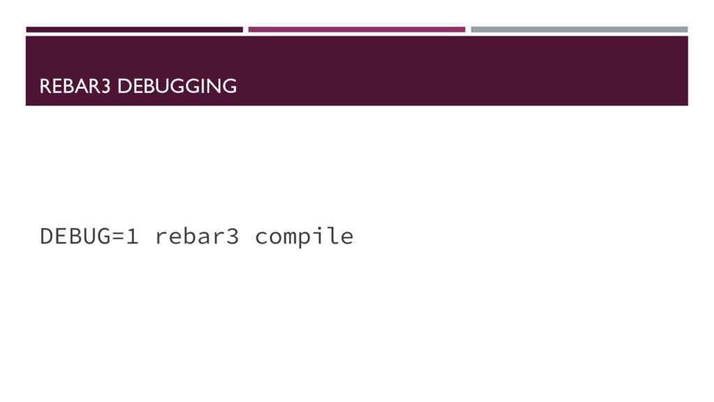 REBAR3 DEBUGGING DEBUG=1 rebar3 compile