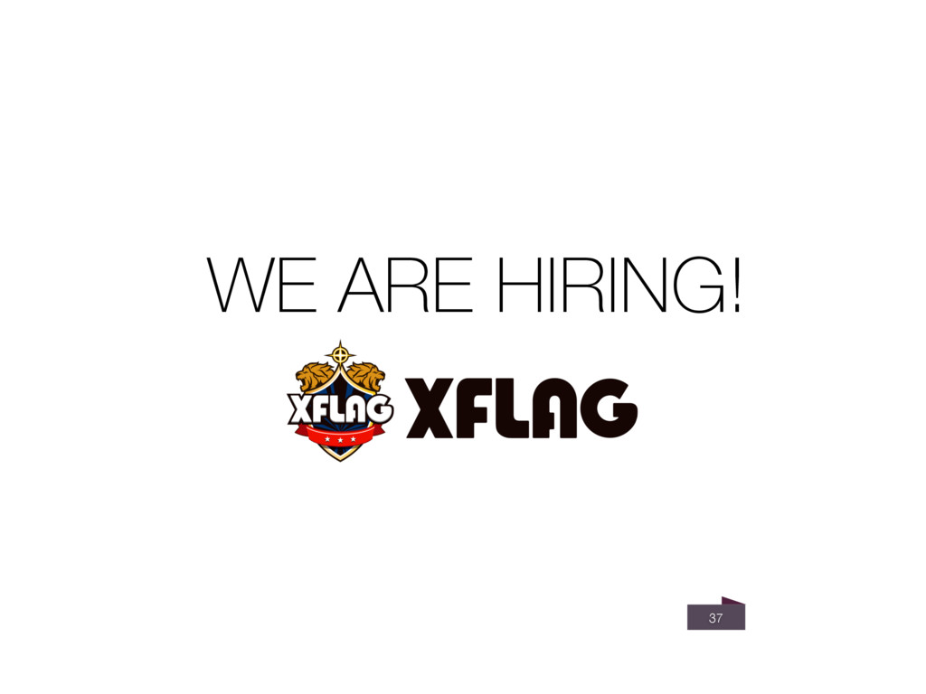 37 WE ARE HIRING!