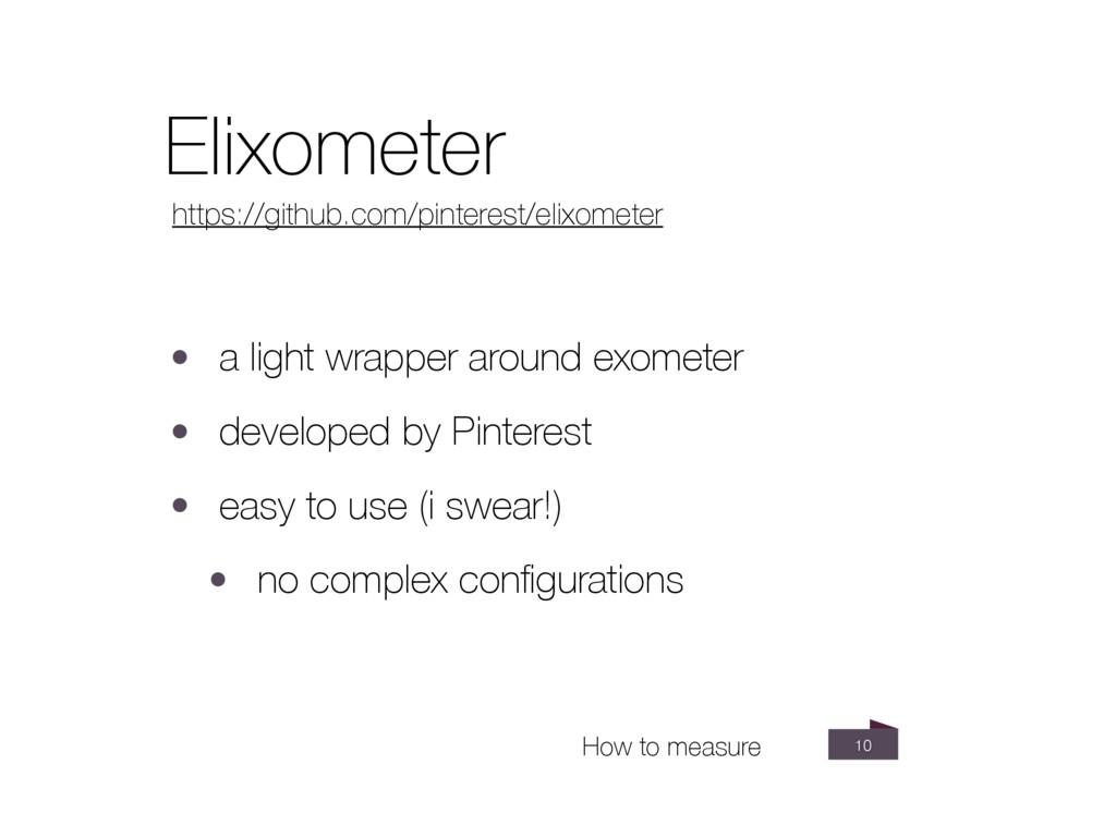 10 Elixometer https://github.com/pinterest/elix...
