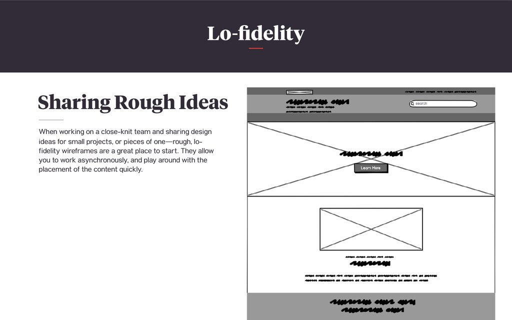 Lo-fidelity Sharing Rough Ideas When working on ...