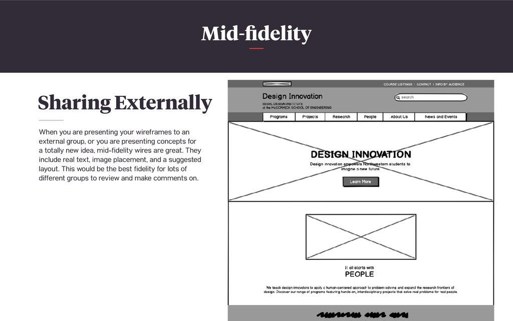 Mid-fidelity Sharing Externally When you are pre...