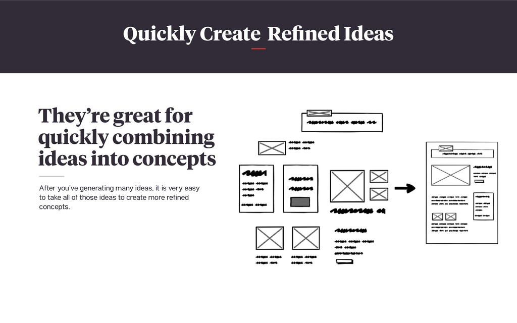 Quickly Create Refined Ideas They're great for q...