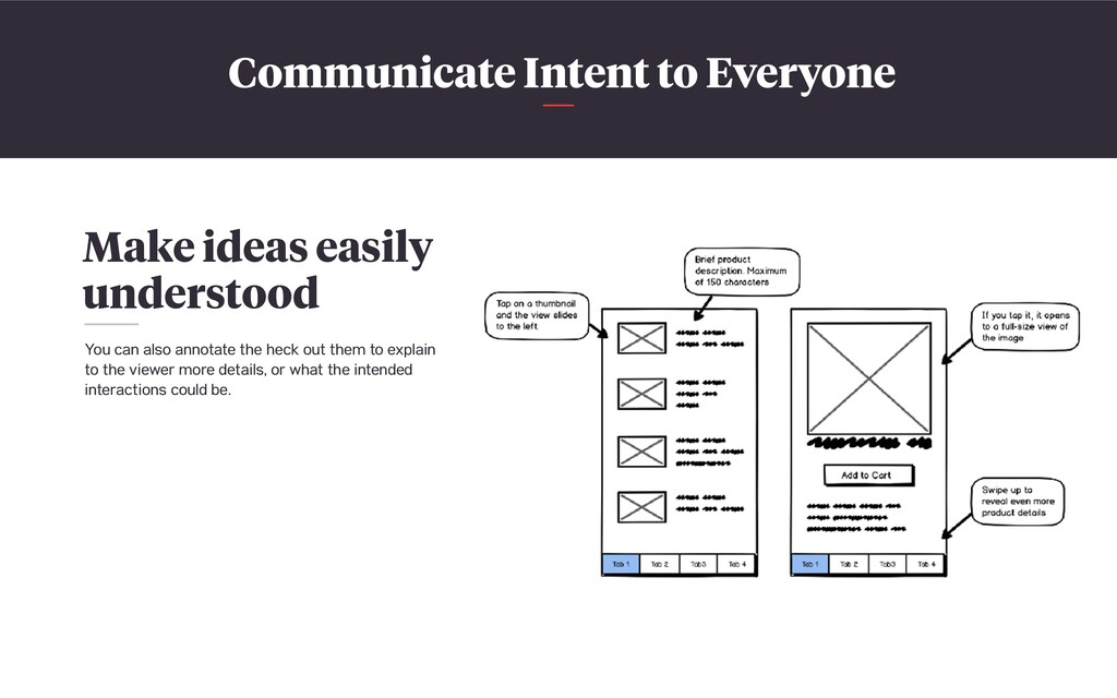 Communicate Intent to Everyone Make ideas easil...