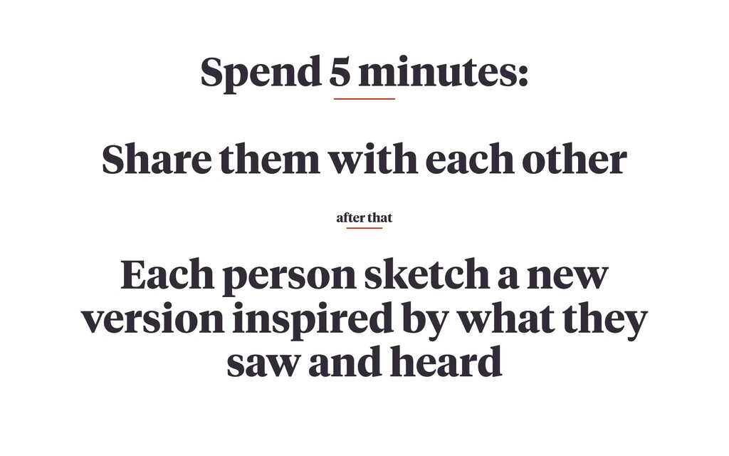 Spend 5 minutes: Share them with each other Eac...