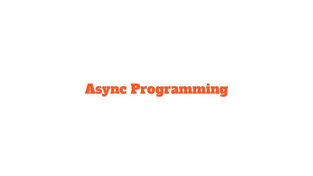 Async Programming