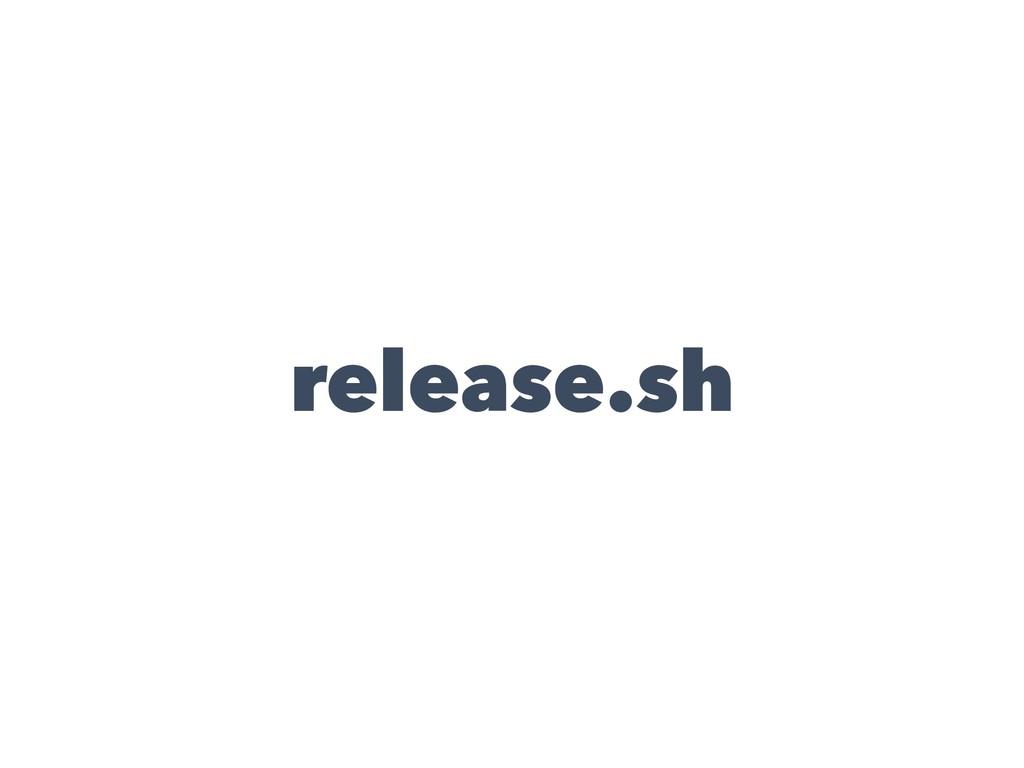 release.sh