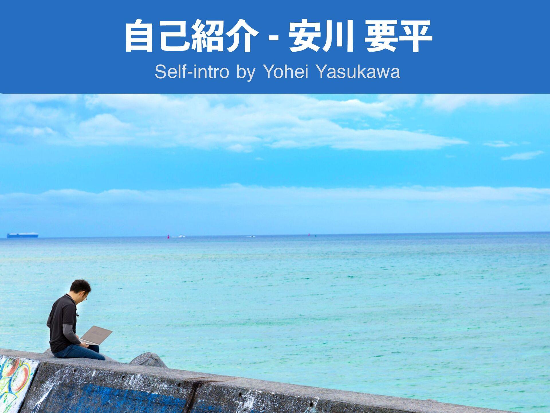 ࣗݾհ҆ཁฏ Self-intro by Yohei Yasukawa 