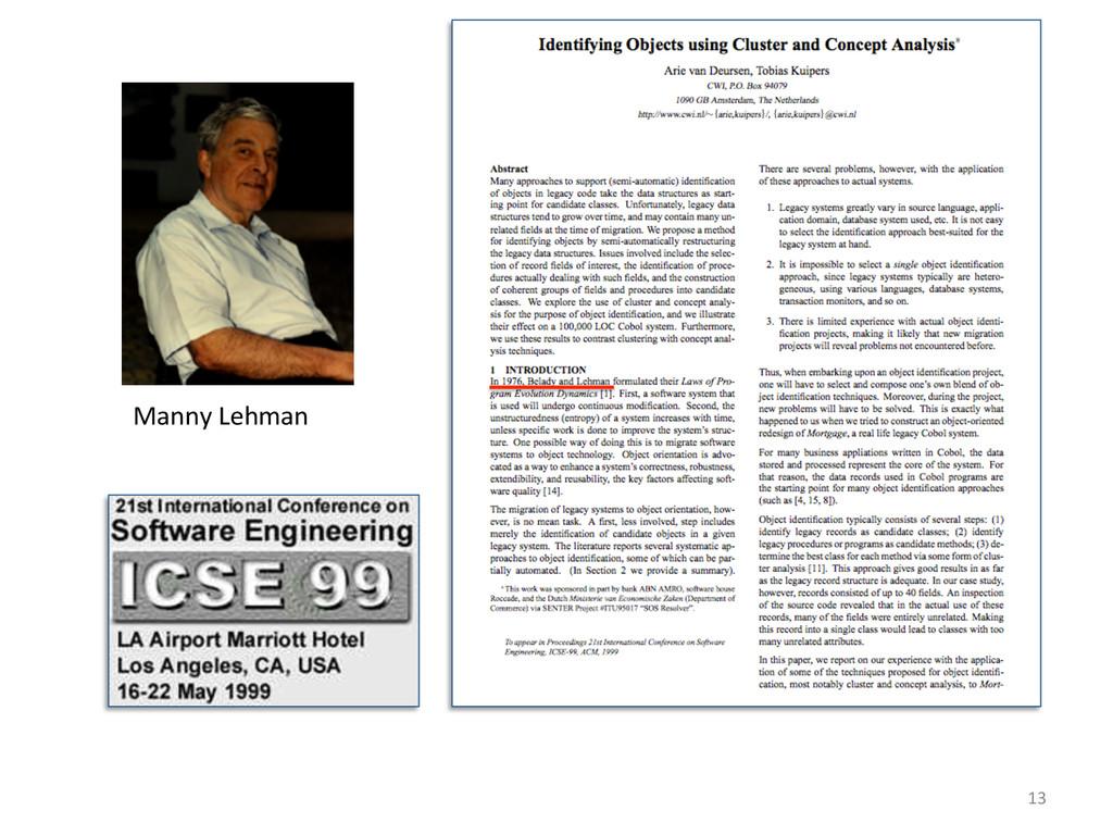 Manny Lehman  13