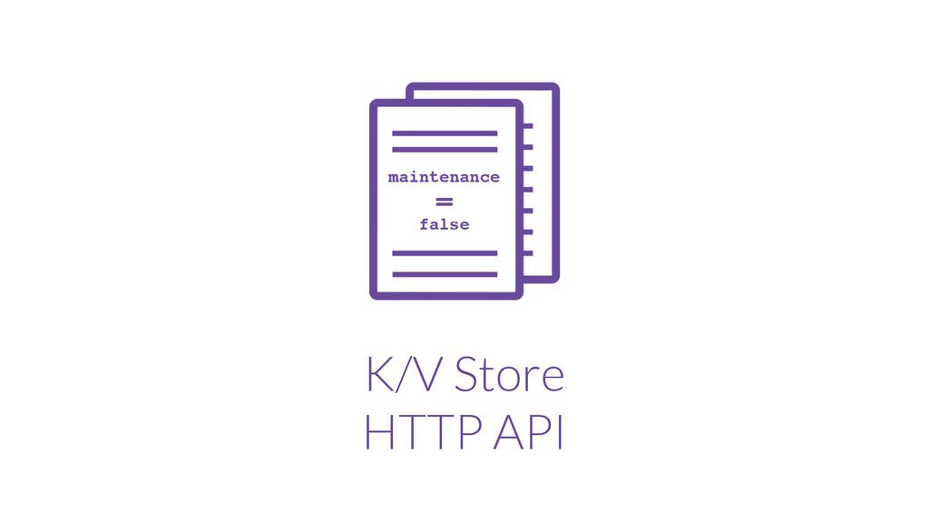 K/V Store HTTP API