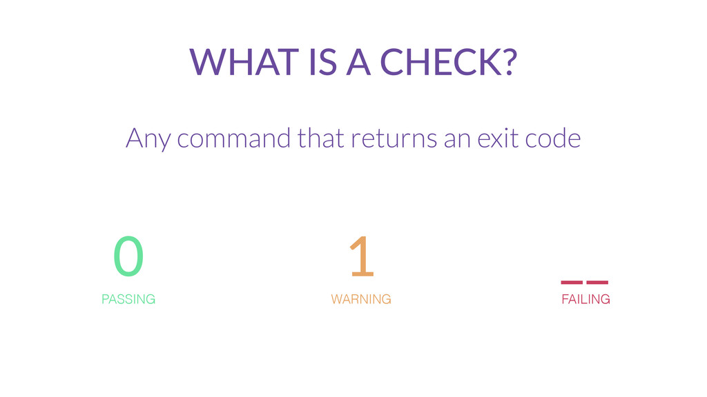 WHAT  IS  A  CHECK? Any command that returns an...