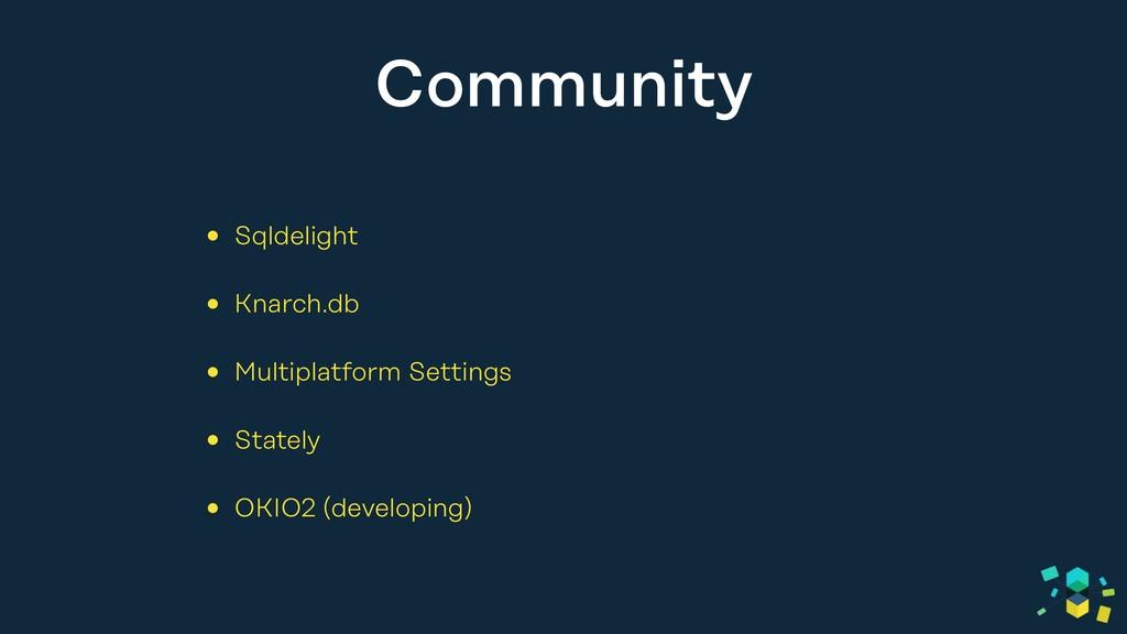 Community • Sqldelight • Knarch.db • Multiplatf...