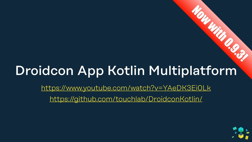 Droidcon App Kotlin Multiplatform https://www.y...