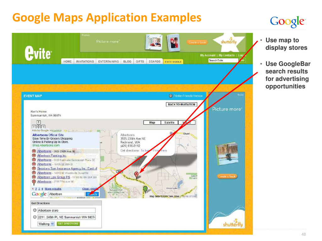 48 Google Maps Application Examples • Use map t...