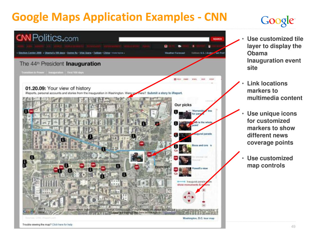 49 Google Maps Application Examples - CNN • Use...