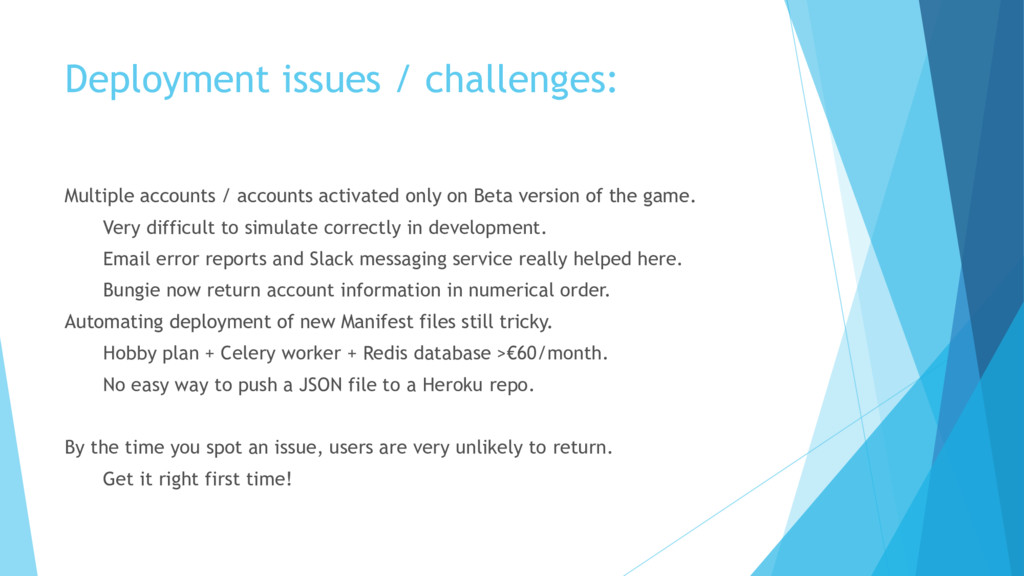 Deployment issues / challenges: Multiple accoun...