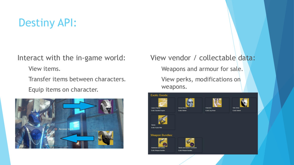Destiny API: Interact with the in-game world: V...