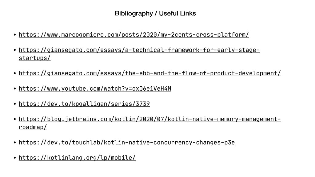 "Bibliography / Useful Links • https:""//www.marc..."