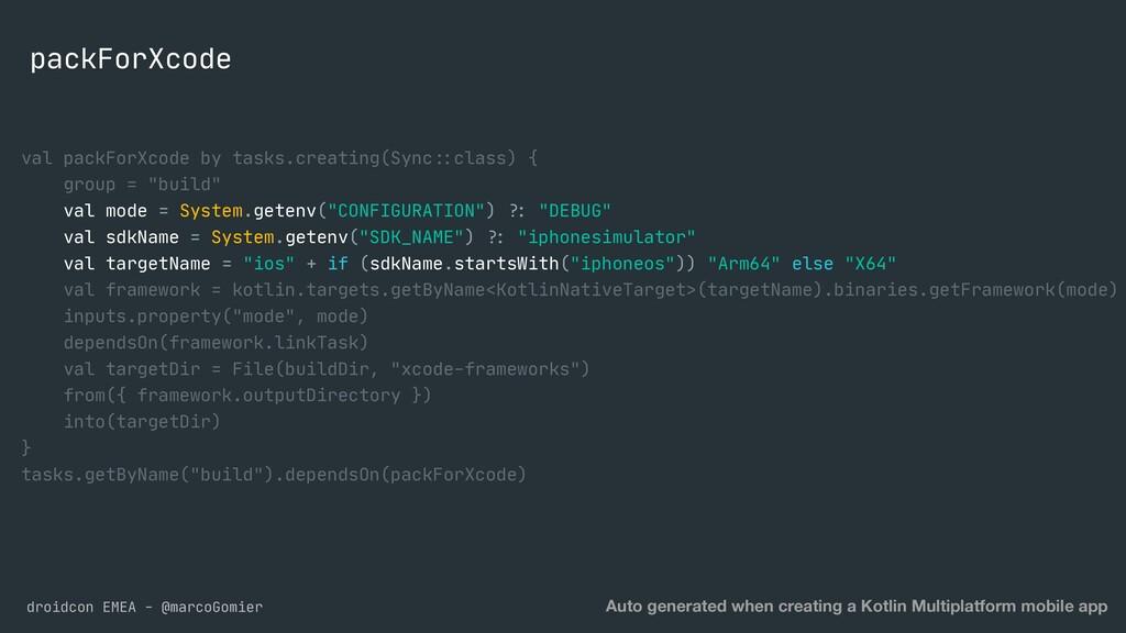 droidcon EMEA - @marcoGomier packForXcode Auto ...