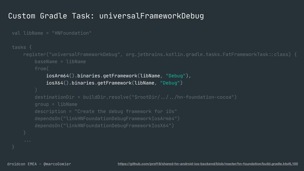 droidcon EMEA - @marcoGomier Custom Gradle Task...