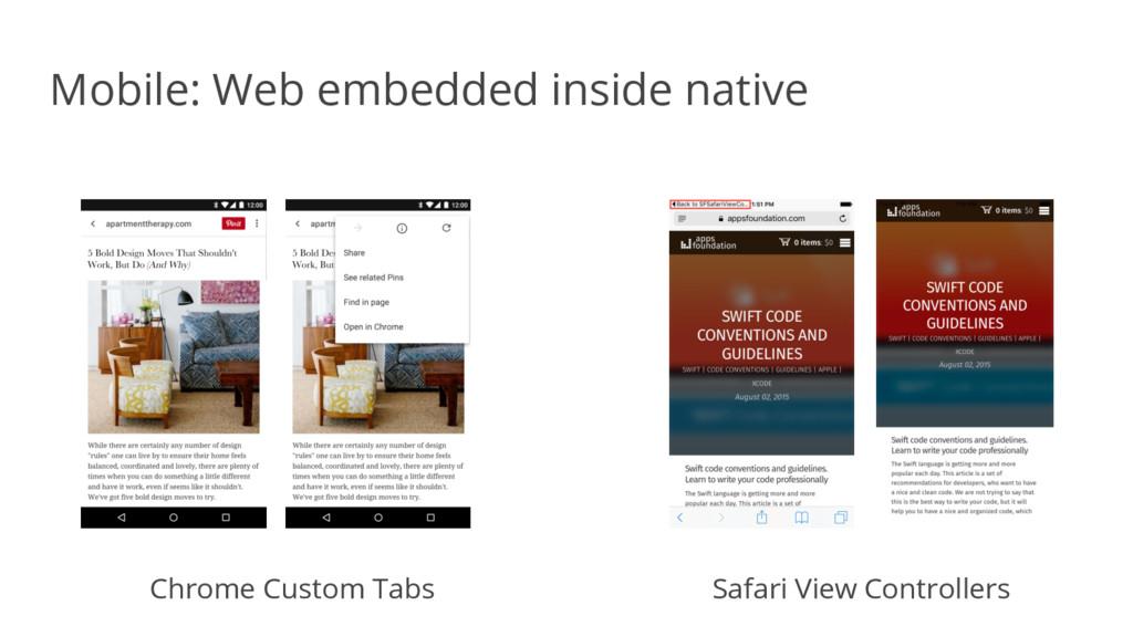 Mobile: Web embedded inside native Chrome Custo...