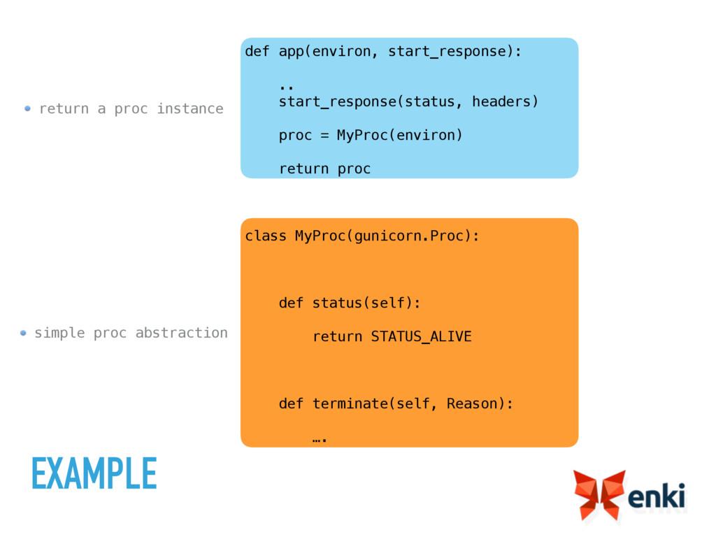 simple proc abstraction return a proc instance ...
