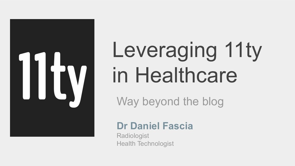 Leveraging 11ty in Healthcare Way beyond the bl...