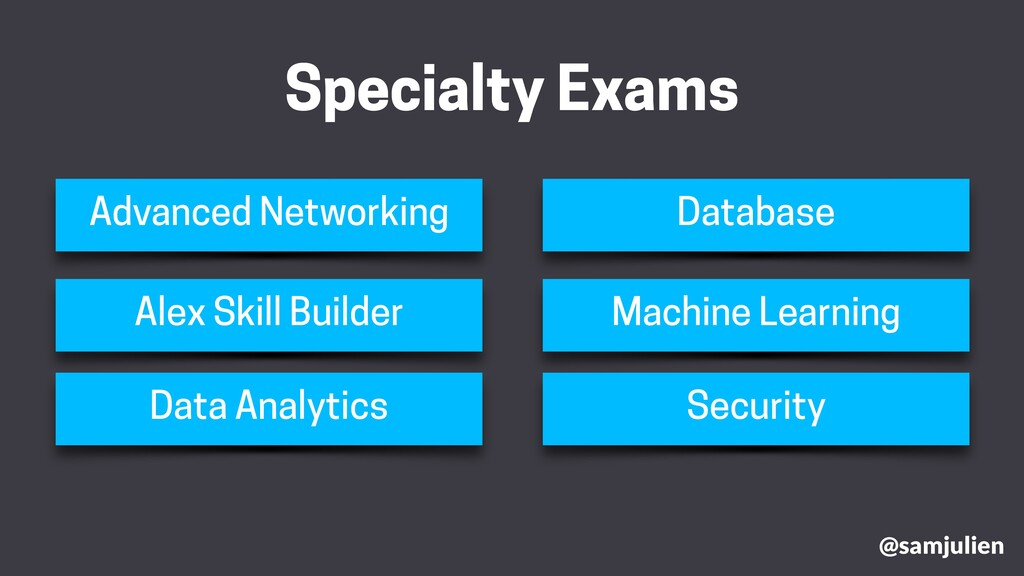 @samjulien Specialty Exams Advanced Networking ...