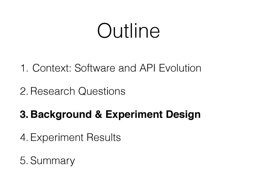 Outline 1. Context: Software and API Evolution ...
