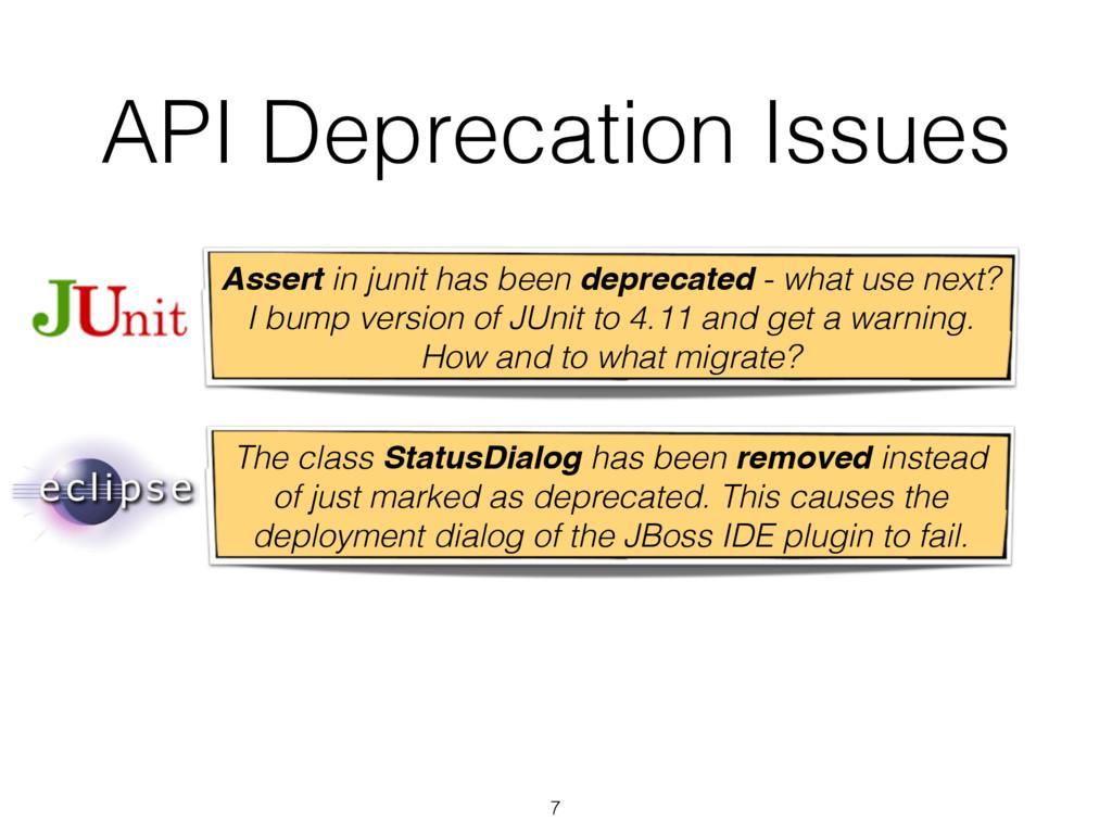 7 API Deprecation Issues Assert in junit has be...