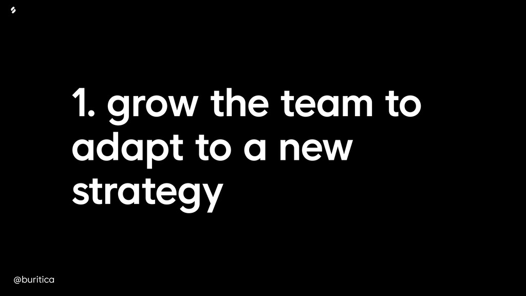 @buritica 1. grow the team to adapt to a new st...