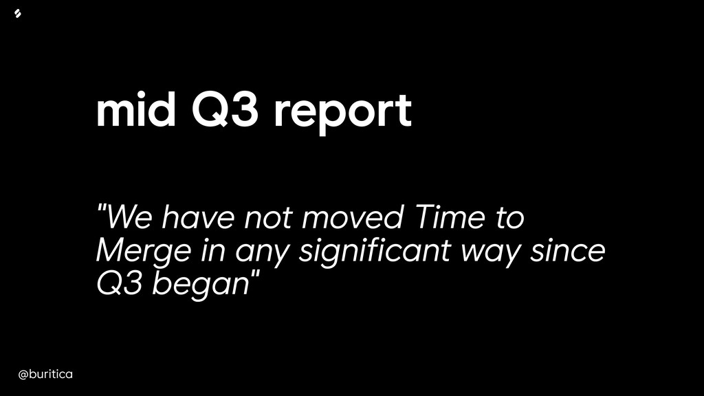 "@buritica mid Q3 report ""We have not moved Time..."