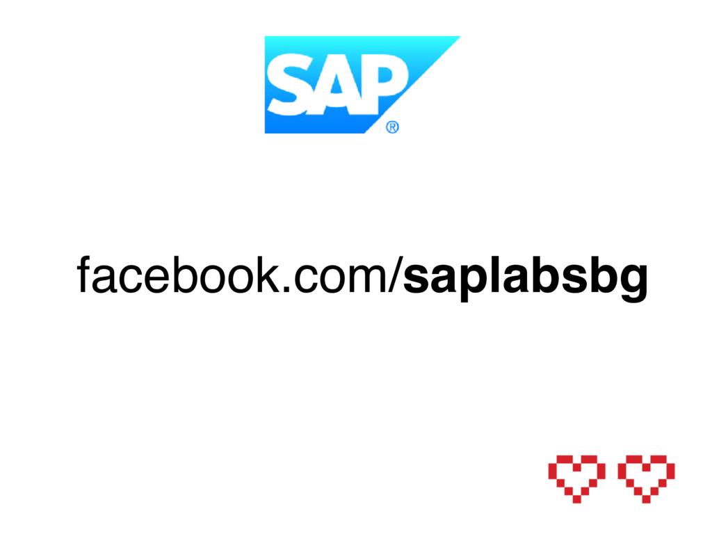 facebook.com/saplabsbg