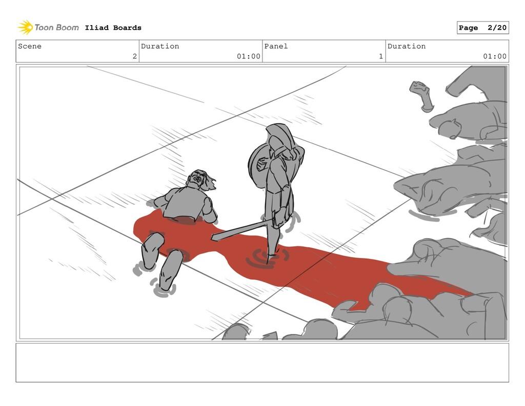 Scene 2 Duration 01:00 Panel 1 Duration 01:00 I...