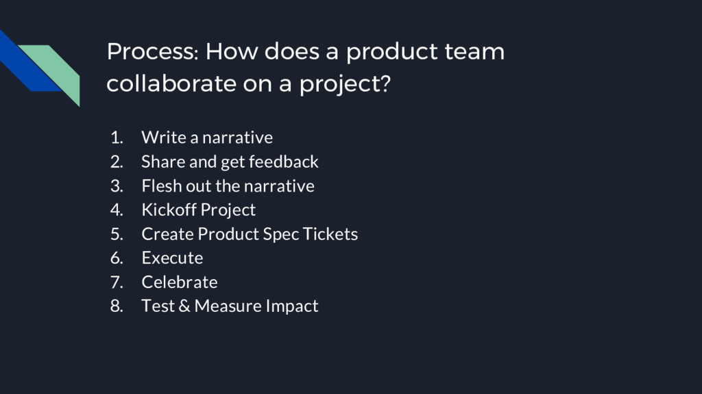 Process: How does a product team collaborate on...