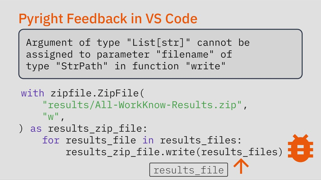 """Pyright Feedback in VS Code Argument of type """"L..."""