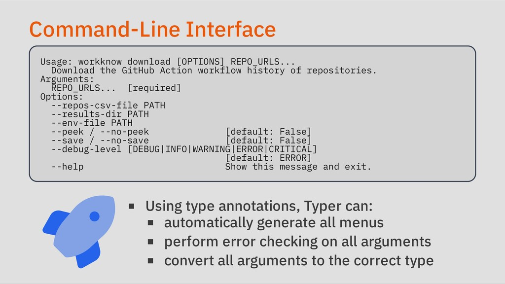 Command-Line Interface Usage: workknow download...
