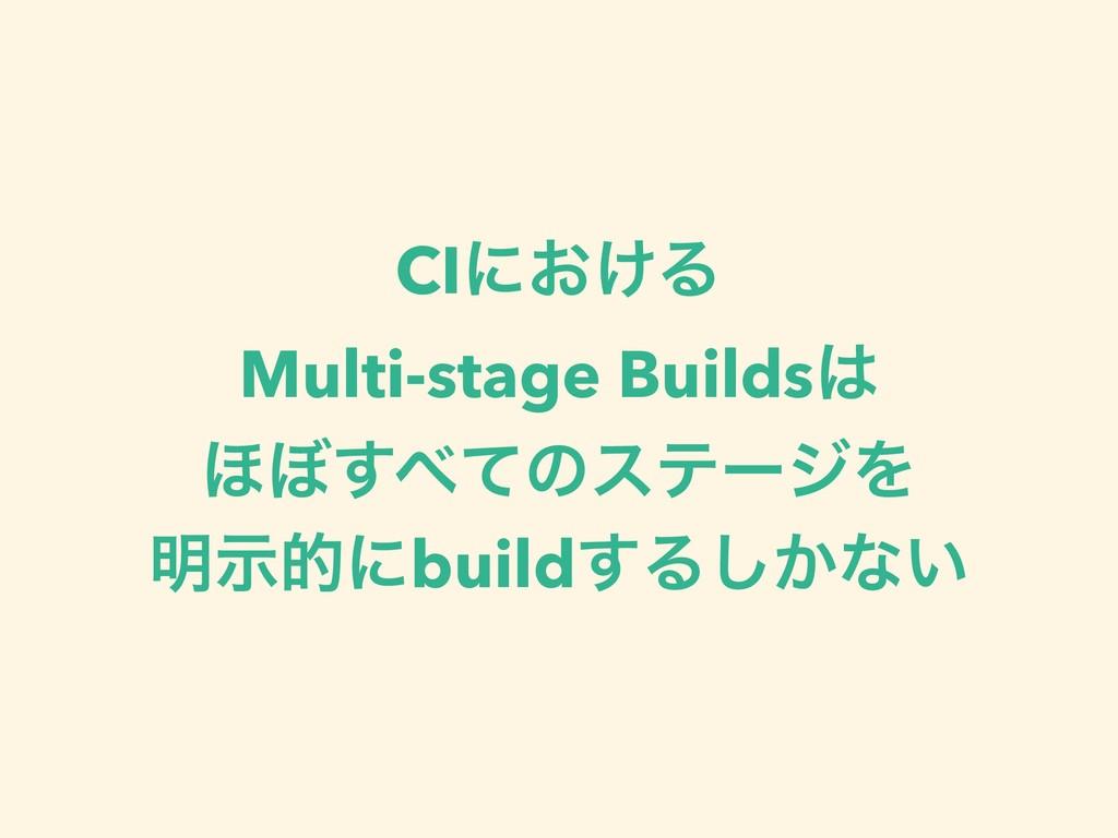 CIʹ͓͚Δ Multi-stage Builds ΄΅ͯ͢ͷεςʔδΛ ໌ࣔతʹbuil...