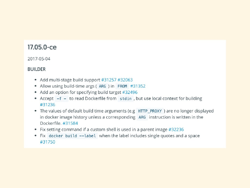 Docker 17.05 (2017-05-04) ͔Βೖͬͨػ