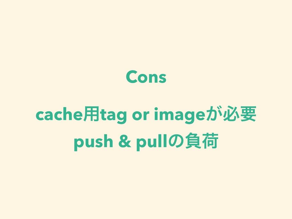 Cons cache༻tag or image͕ඞཁ push & pullͷෛՙ