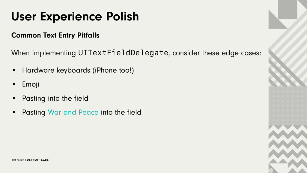 User Experience Polish Common Text Entry Pitfal...