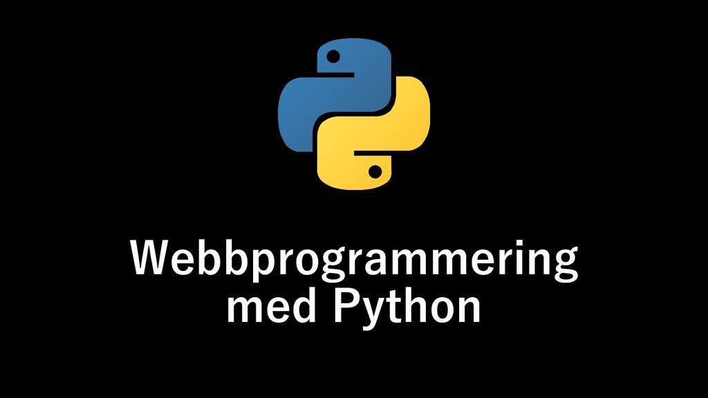 Webbprogrammering med Python
