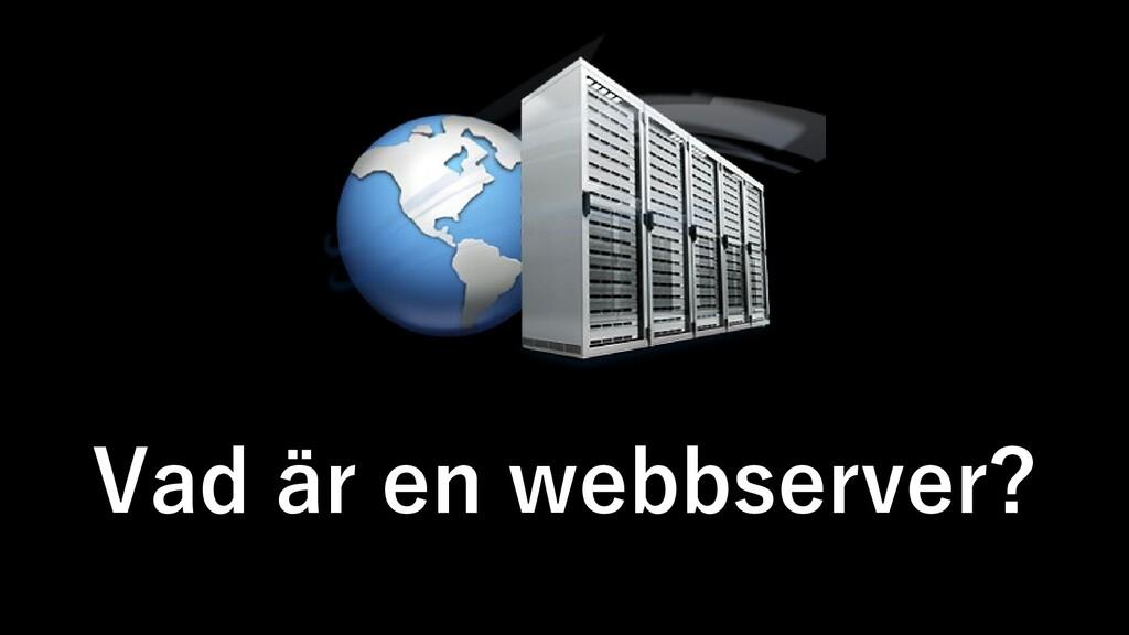Vad är en webbserver?