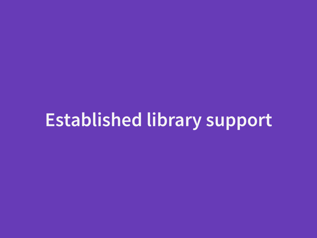 Established library support