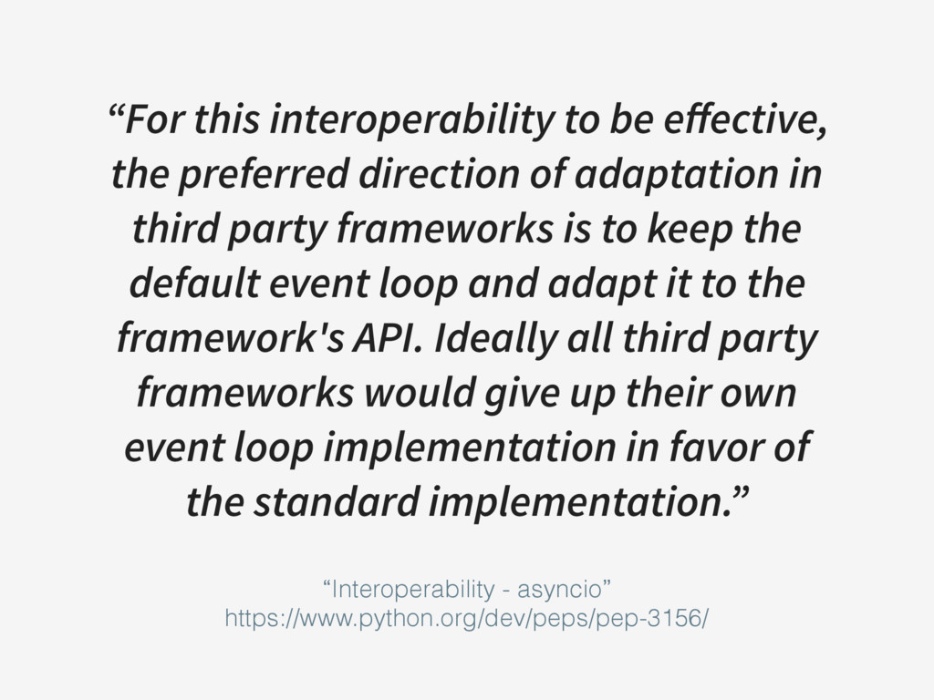 """For this interoperability to be effective, the ..."