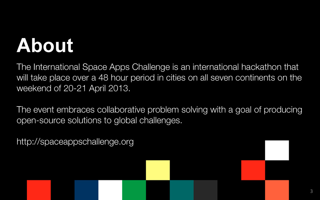 The International Space Apps Challenge is an in...