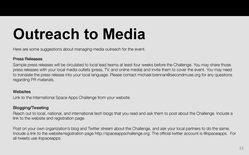 Here are some suggestions about managing media ...
