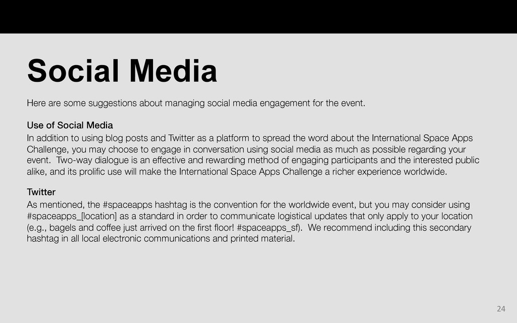 Here are some suggestions about managing social...