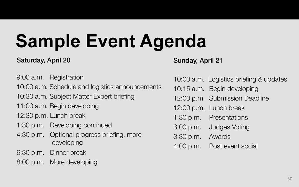 Saturday, April 20!  9:00 a.m. Registration  ...