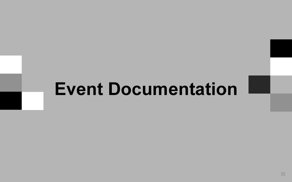 35  Event Documentation